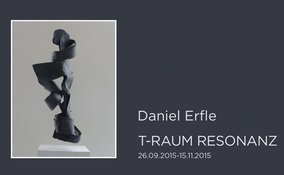 "Plakat Daniel Erfle Ausstellung ""T-Raum Resonanz"""